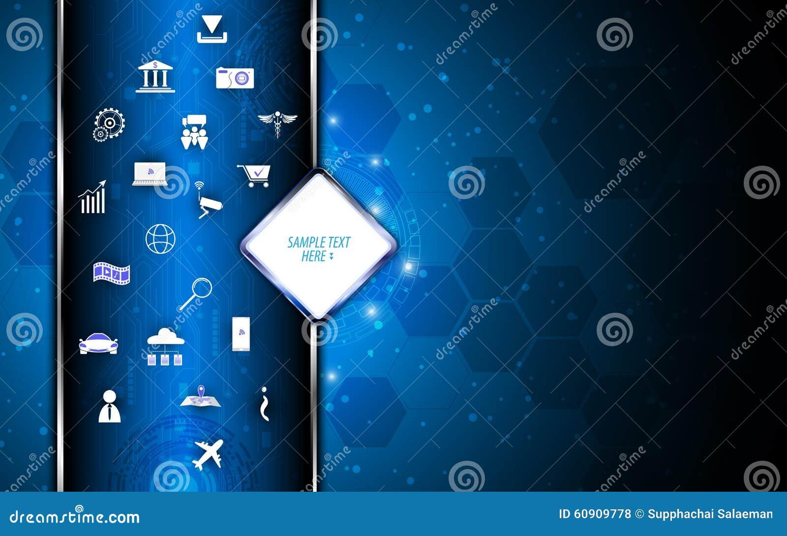 Concept abstrait de la science et technologie de fond de vecteur