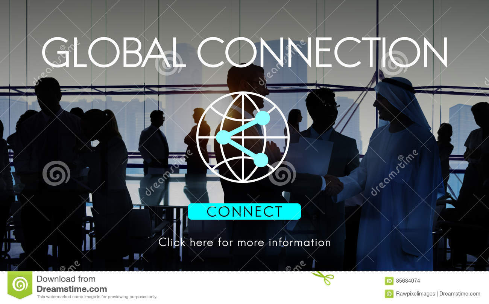 Concept accessible de technologie d Internet de connexion globale