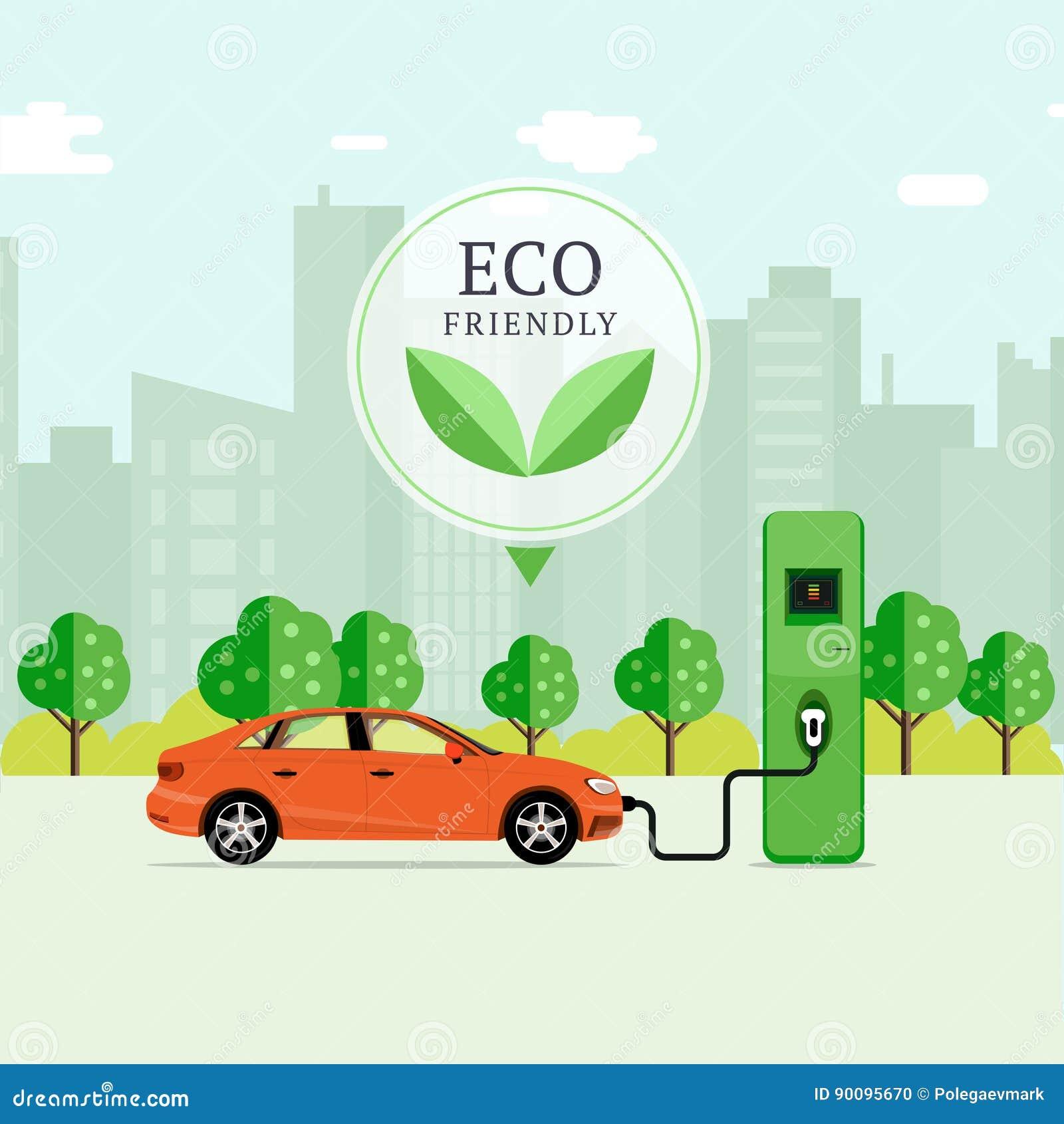 Concept amical d essence d Eco Station de charge de véhicule électrique dans la célébration la Floride Etats-Unis Etats-Unis EV R
