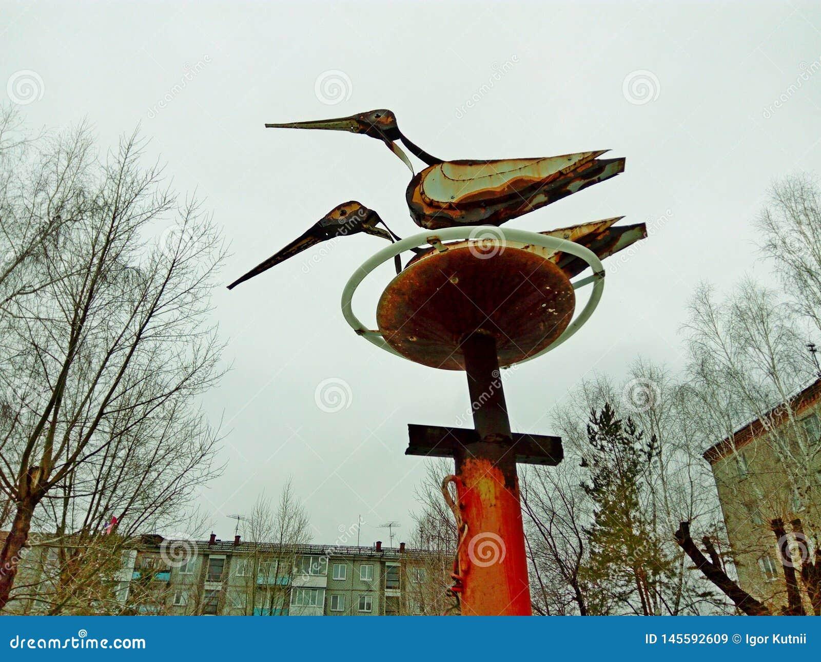 Storks in the nest.