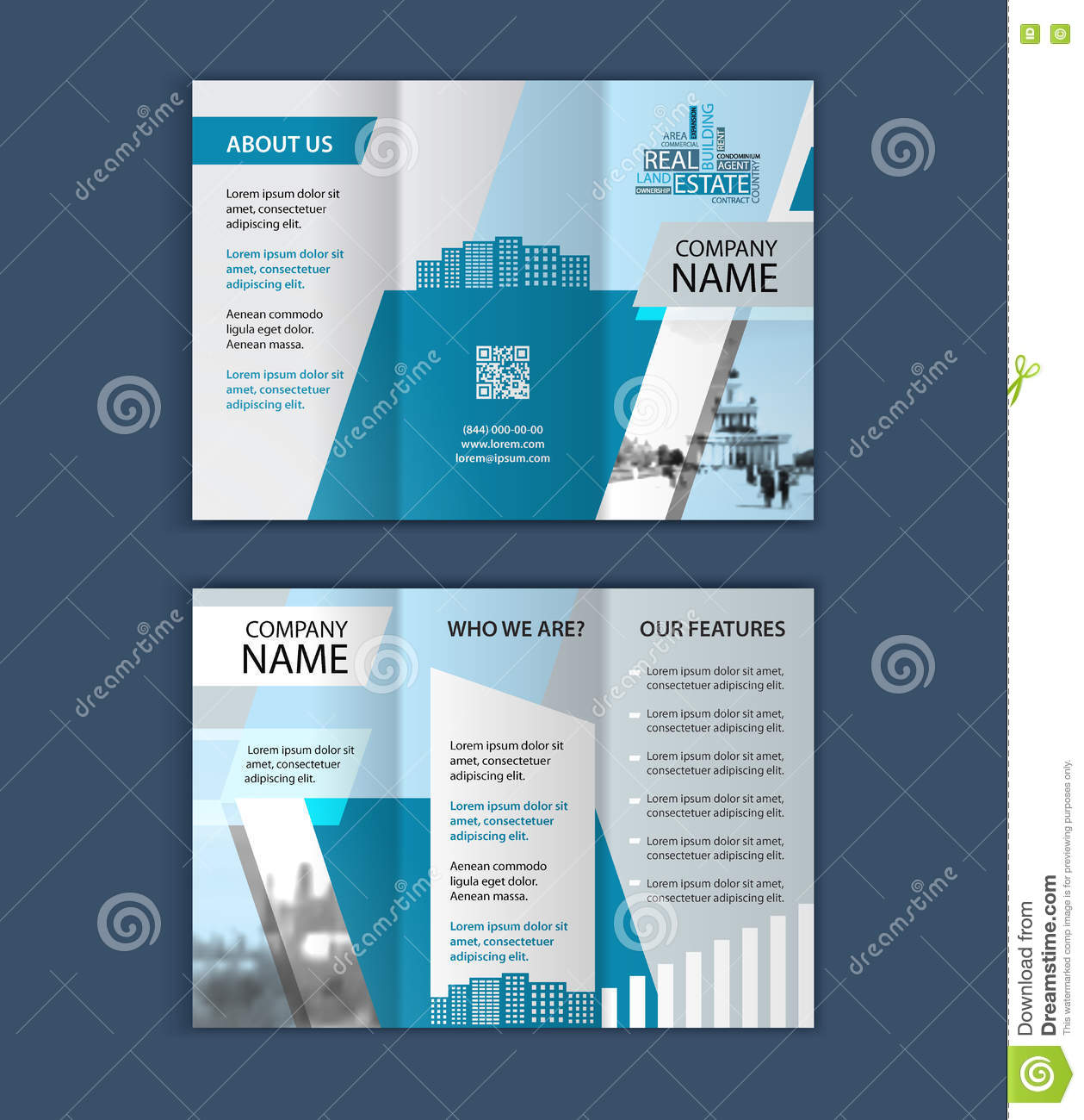concept of architecture design photo frame trifold brochure concept of architecture design photo frame trifold brochure template for real estate company
