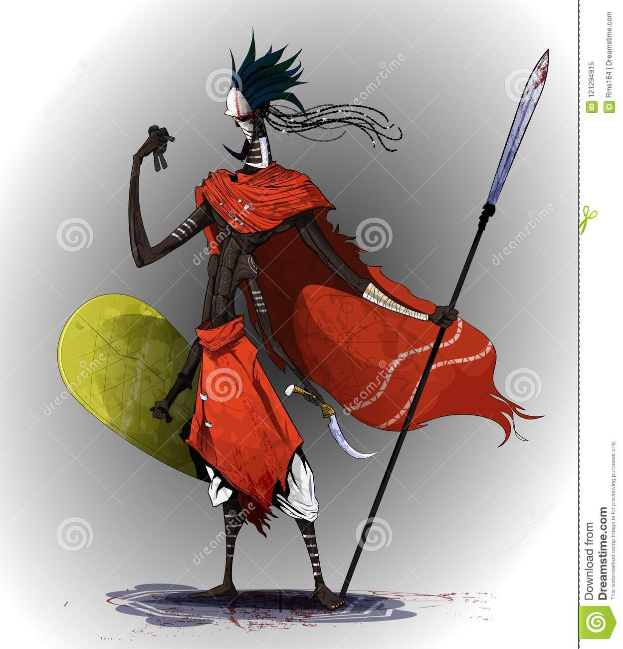 Concept Art Based On Traditional African Tribes Stock Vector