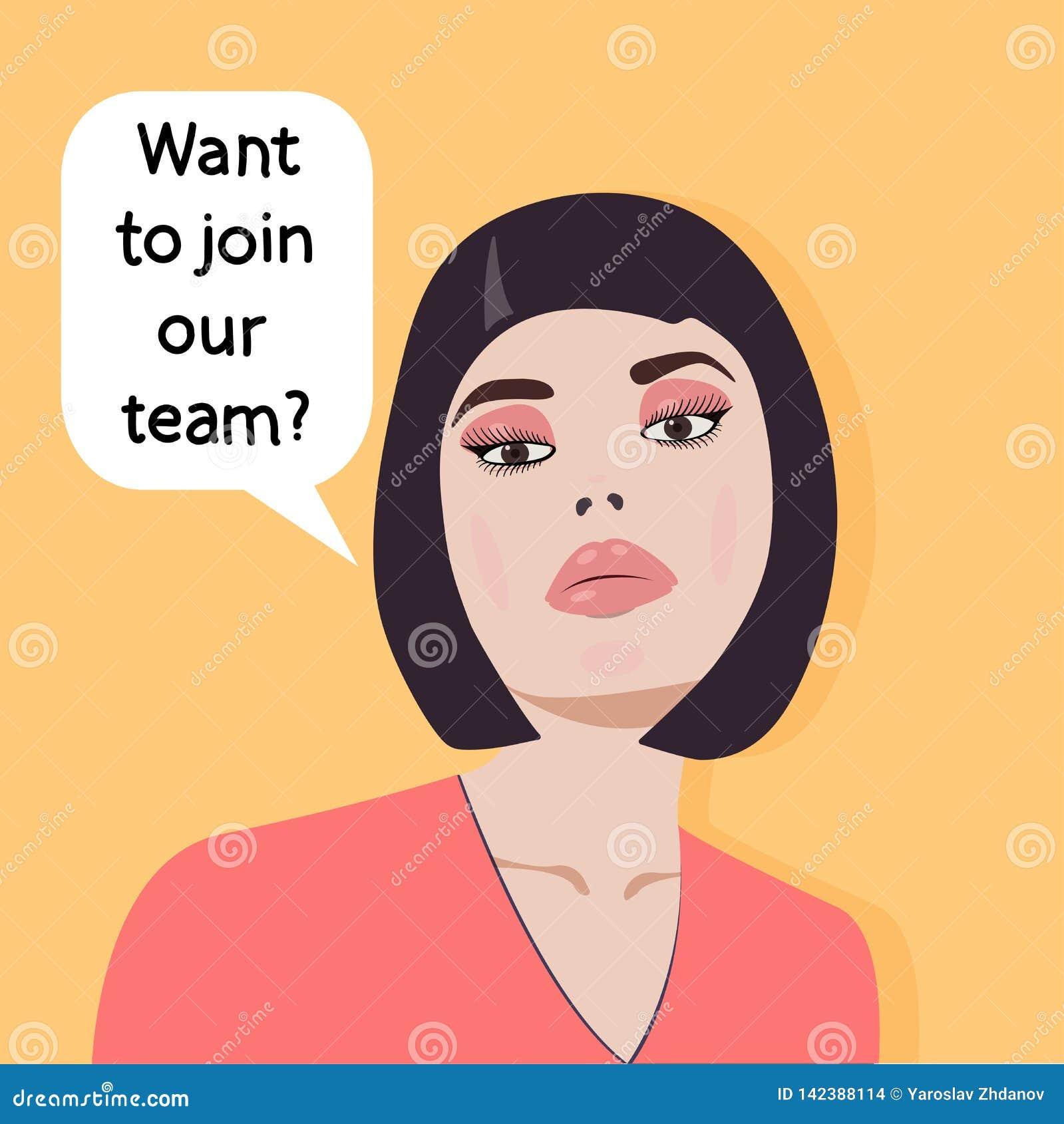 Concept - baanonderzoek - wilt u van ons team lid worden? Werkgever Vector grafiek
