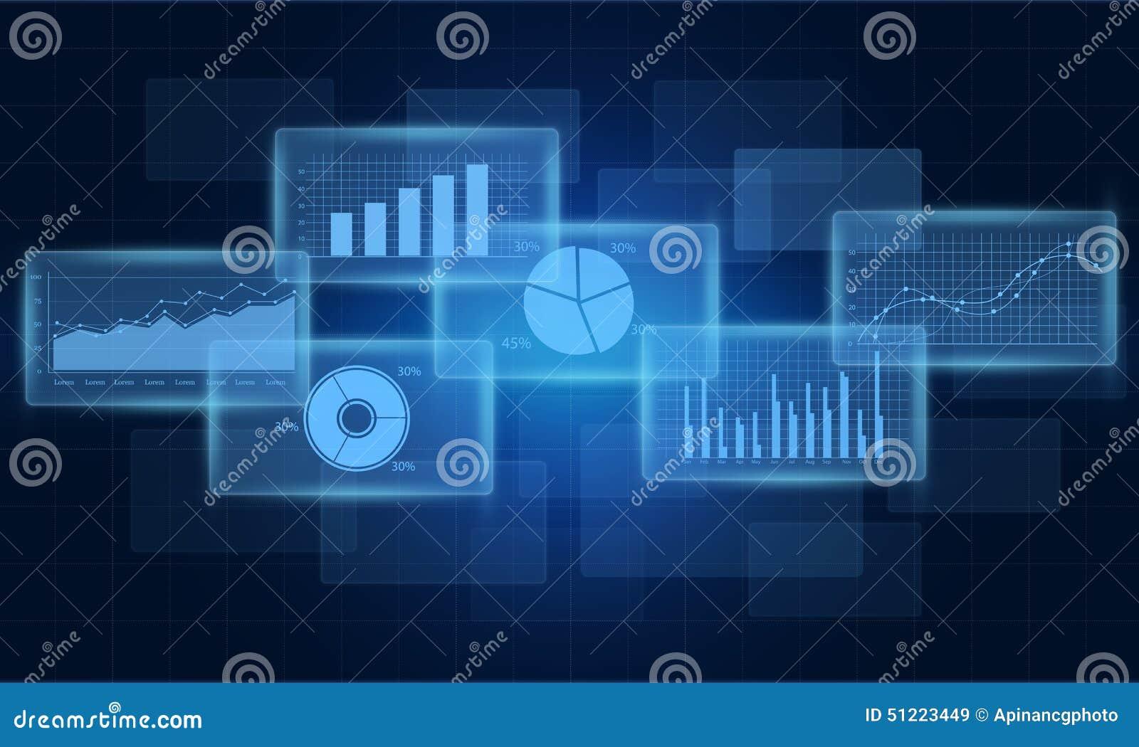 Concept bedrijfs financieel grafiek en rapport als achtergrond