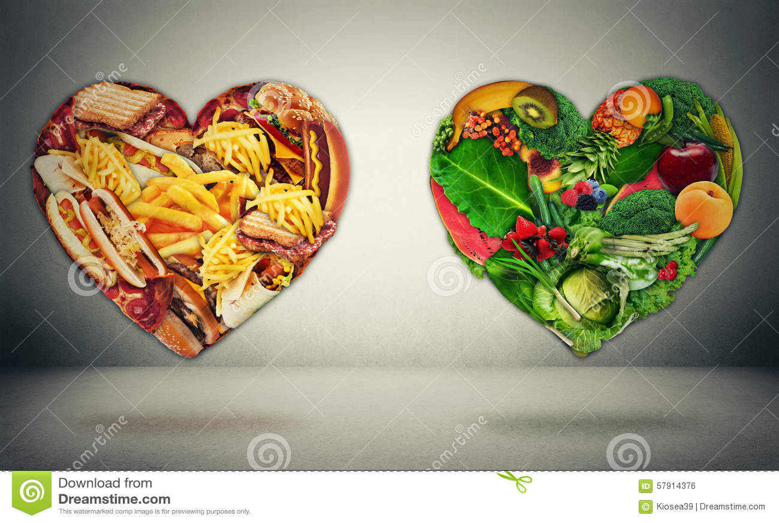 Concept bien choisi de dilemme de régime et de santé de coeur