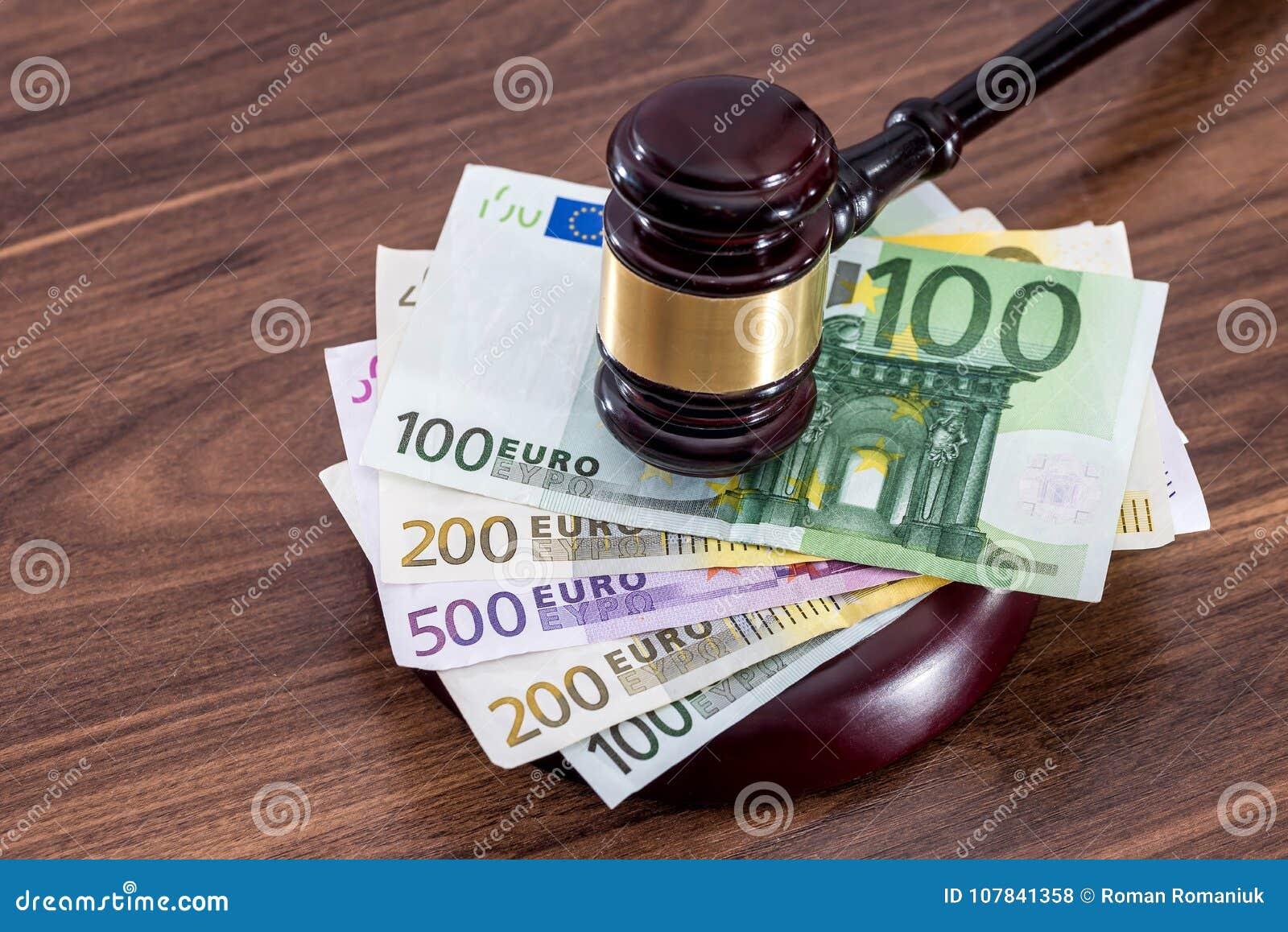 Concept bij de corruptie in rechtvaardigheid