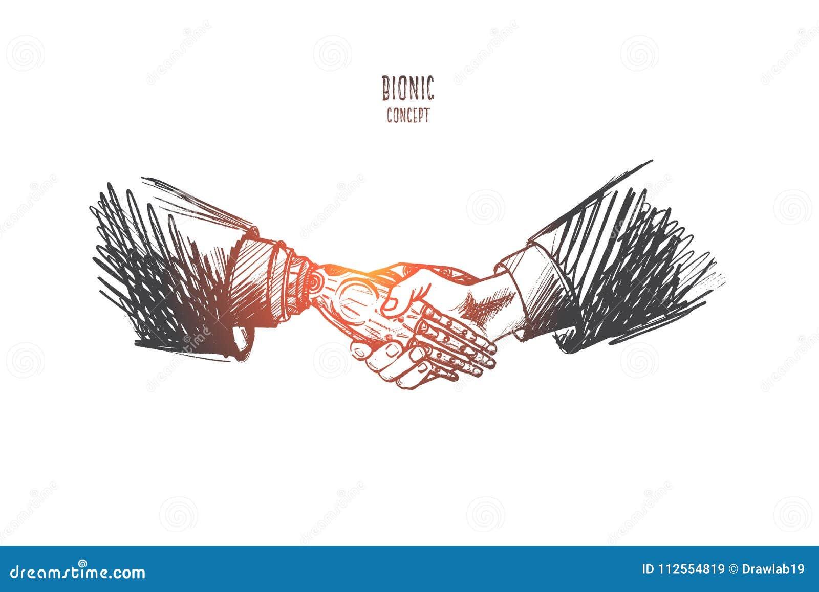 Concept bionique Vecteur d isolement tiré par la main