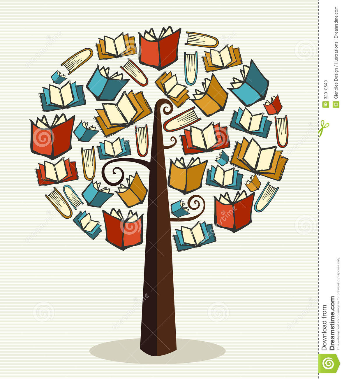 Global education concept tree made books. Vector file layered for easy ...