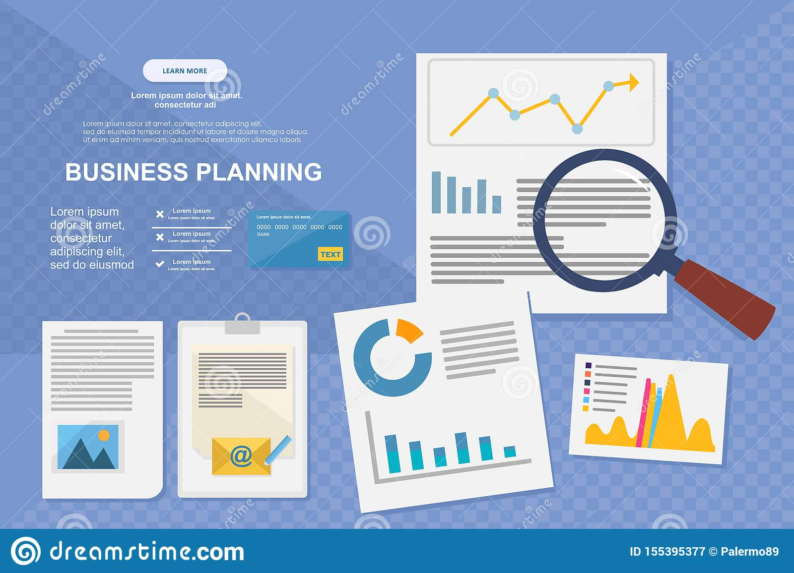 Concept for business analysis, market research, data analysis
