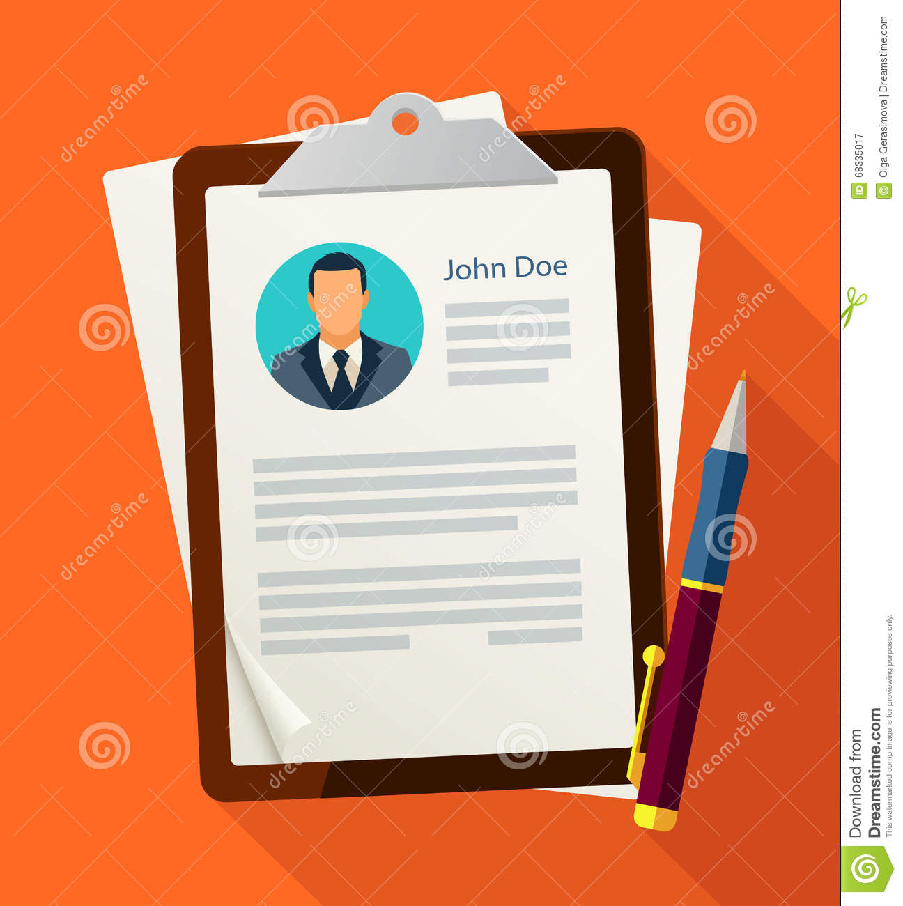 Concept With Business Cv Resume Stock Vector Illustration Of