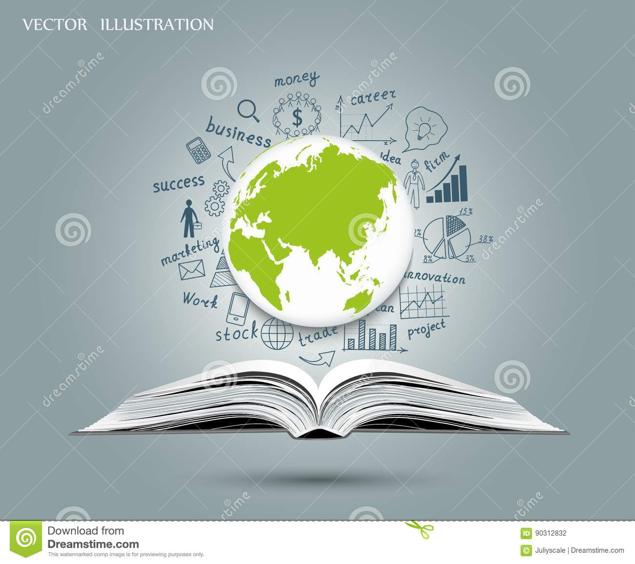 The Concept Of Business Ideas Stock Vector Illustration Of