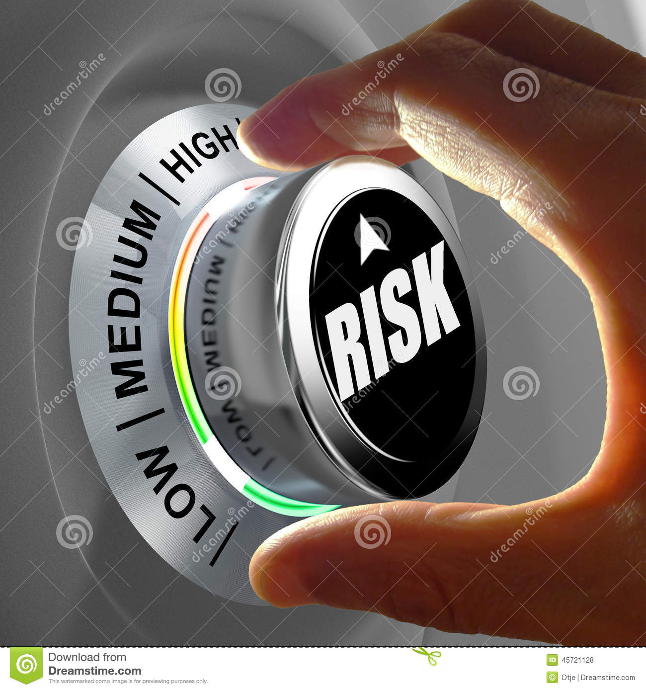 Concept Of A Button Adjusting Or Minimizing Potential Risk ...