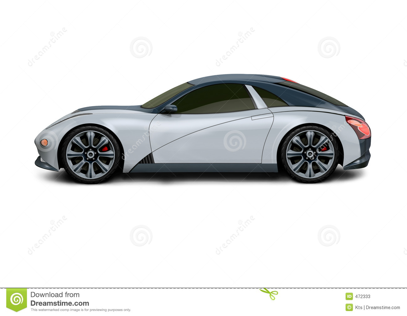 Concept Car 3D Design Stock Images - Image: 472324