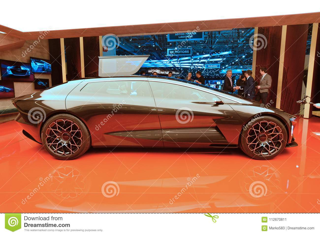 88th Geneva International Motor Show 2018 Aston Martin Lagonda Vision Concept Editorial Photo Image Of Times Feasibility 112670811
