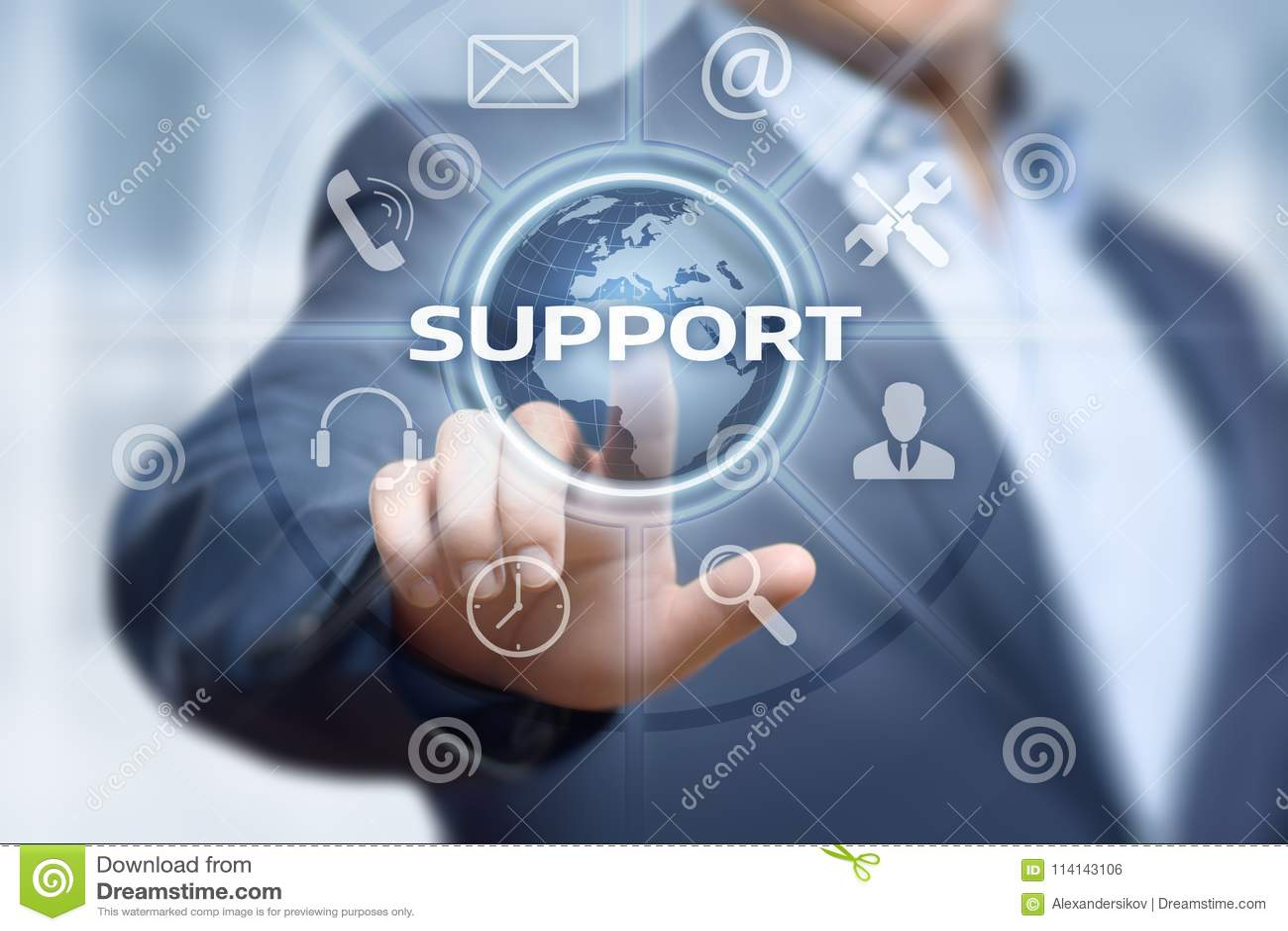 Concept central de technologie d affaires d Internet de service client de support technique