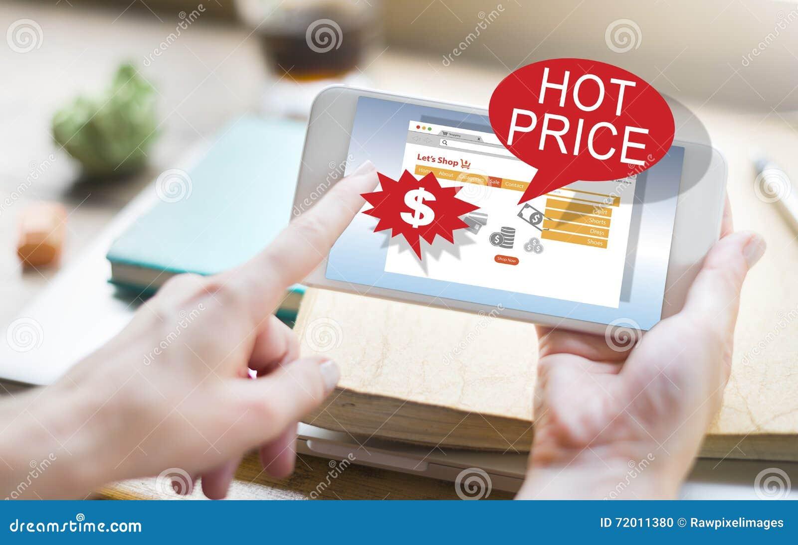 Concept chaud de promotion des prix de dégagement de remise