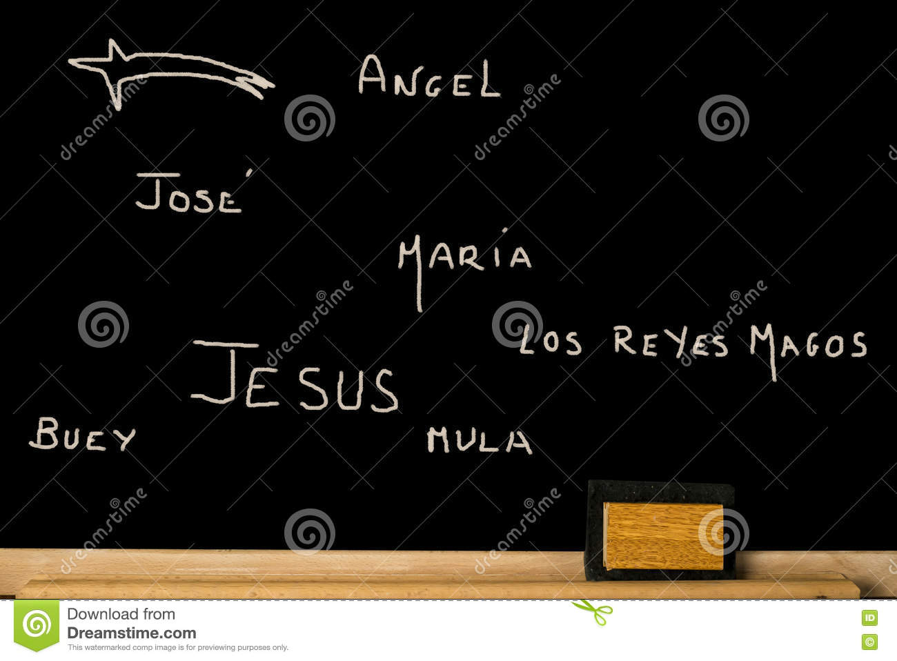 Concept Christmas Card In Spanish Language Stock Image - Image of ...
