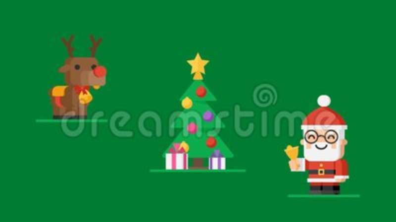 Concept christmas tree characters santa claus reindeer and snowmen concept christmas tree characters santa claus reindeer and snowmen stock video video of snow tree 104929355 m4hsunfo