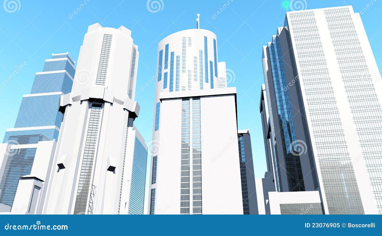 White Futuristic City – Articleblog info