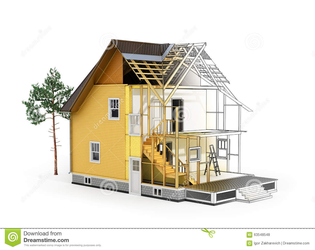 Concept Of Construction And Architect Design Stock Illustration