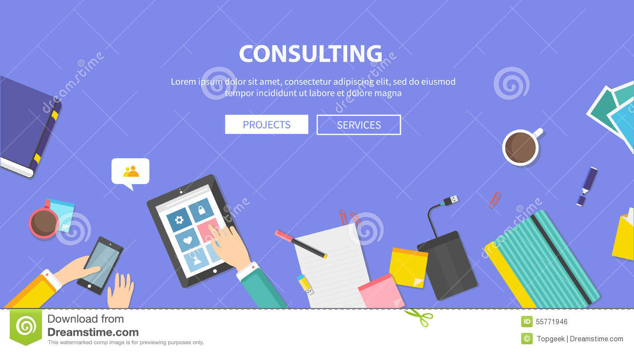 Concept of Consulting, Service, Teamwork