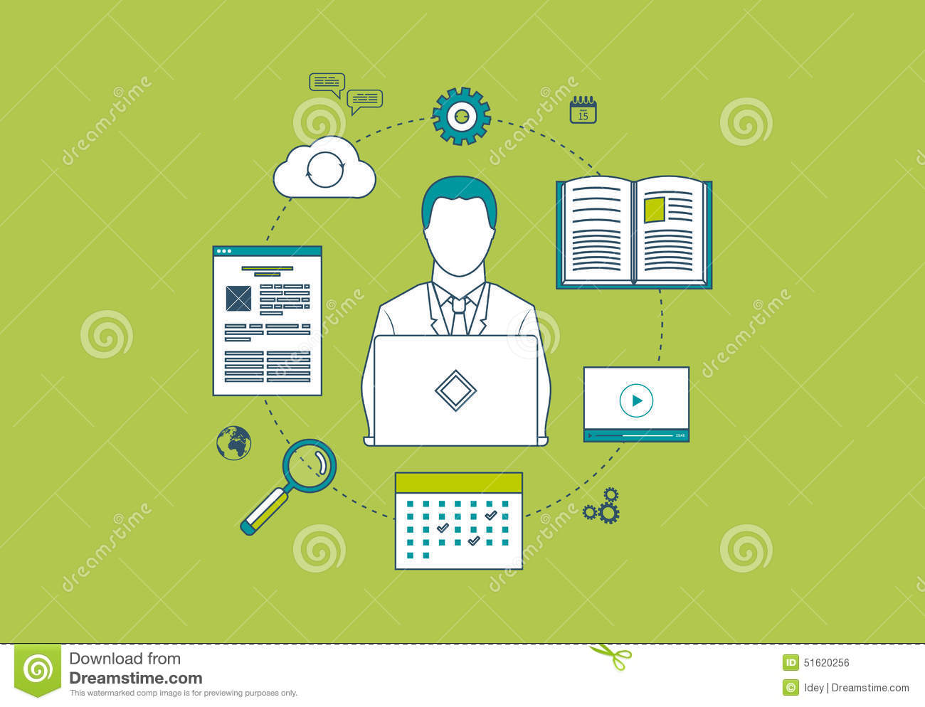 Concept of consulting services project management stock for Planning on line