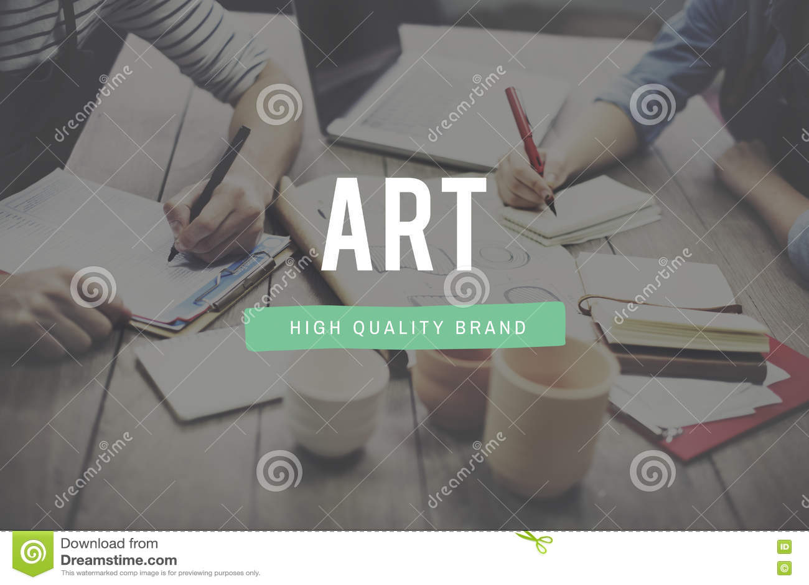 Concept créatif d Art Style Impression Expression Imagination