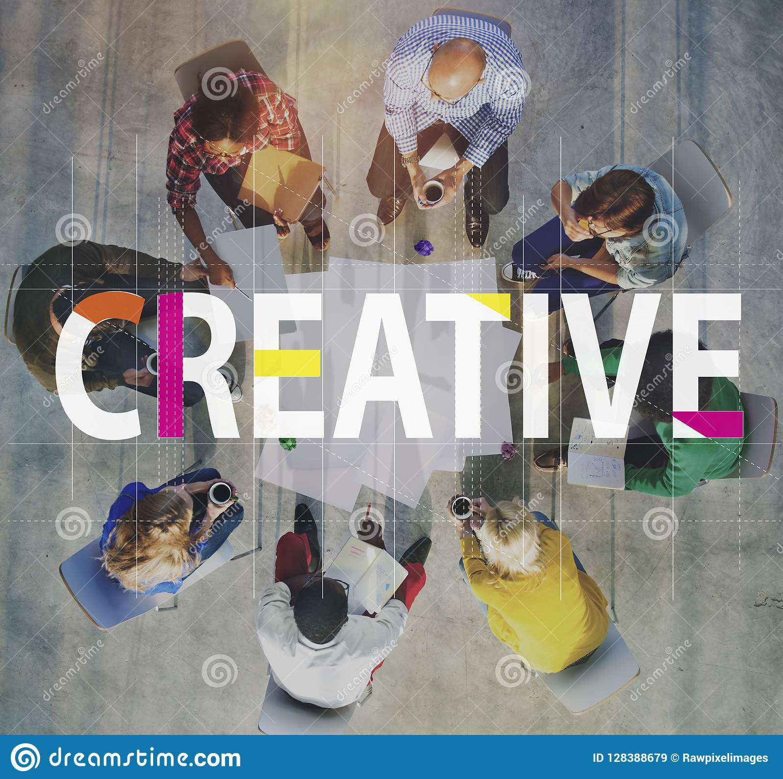 Concept créatif d innovation d imagination d idées de conception