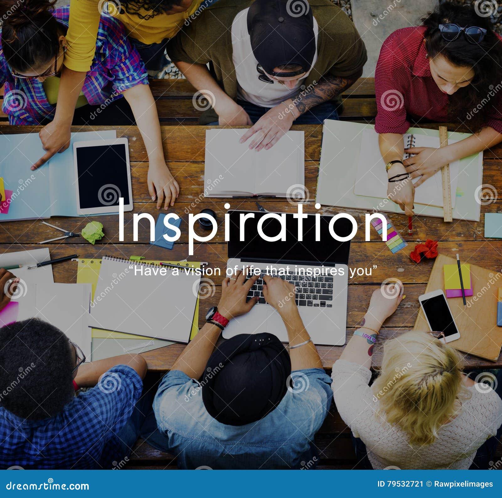Concept créatif de capacité d aspirations de vision d inspiration