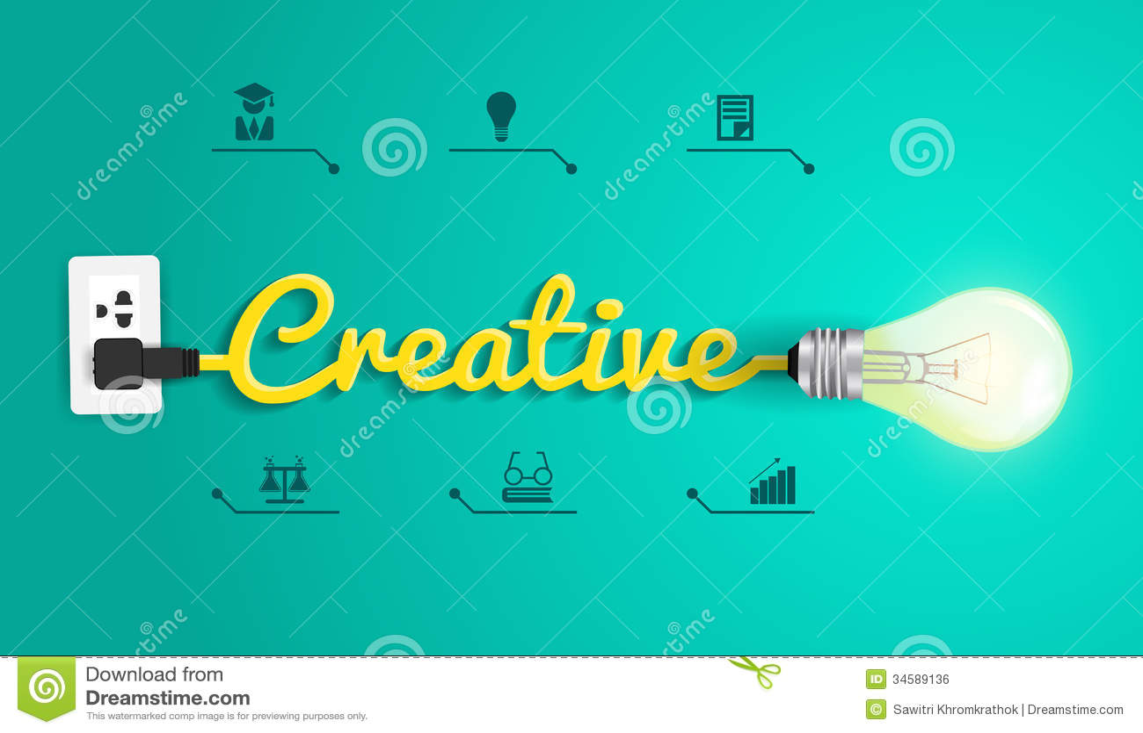 Concept créatif de vecteur avec l idée d ampoule