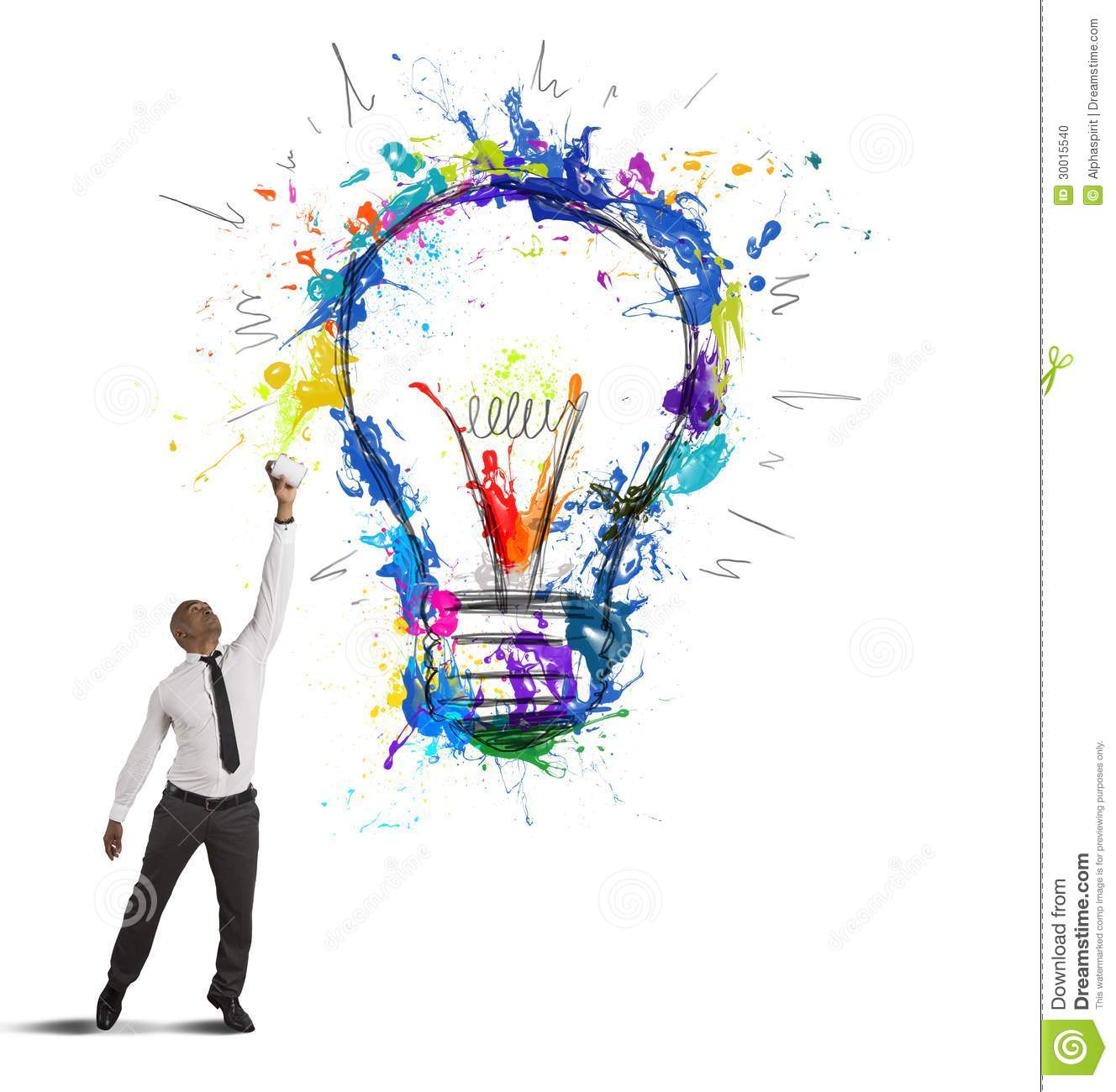 Creative Business Idea Stock Photo