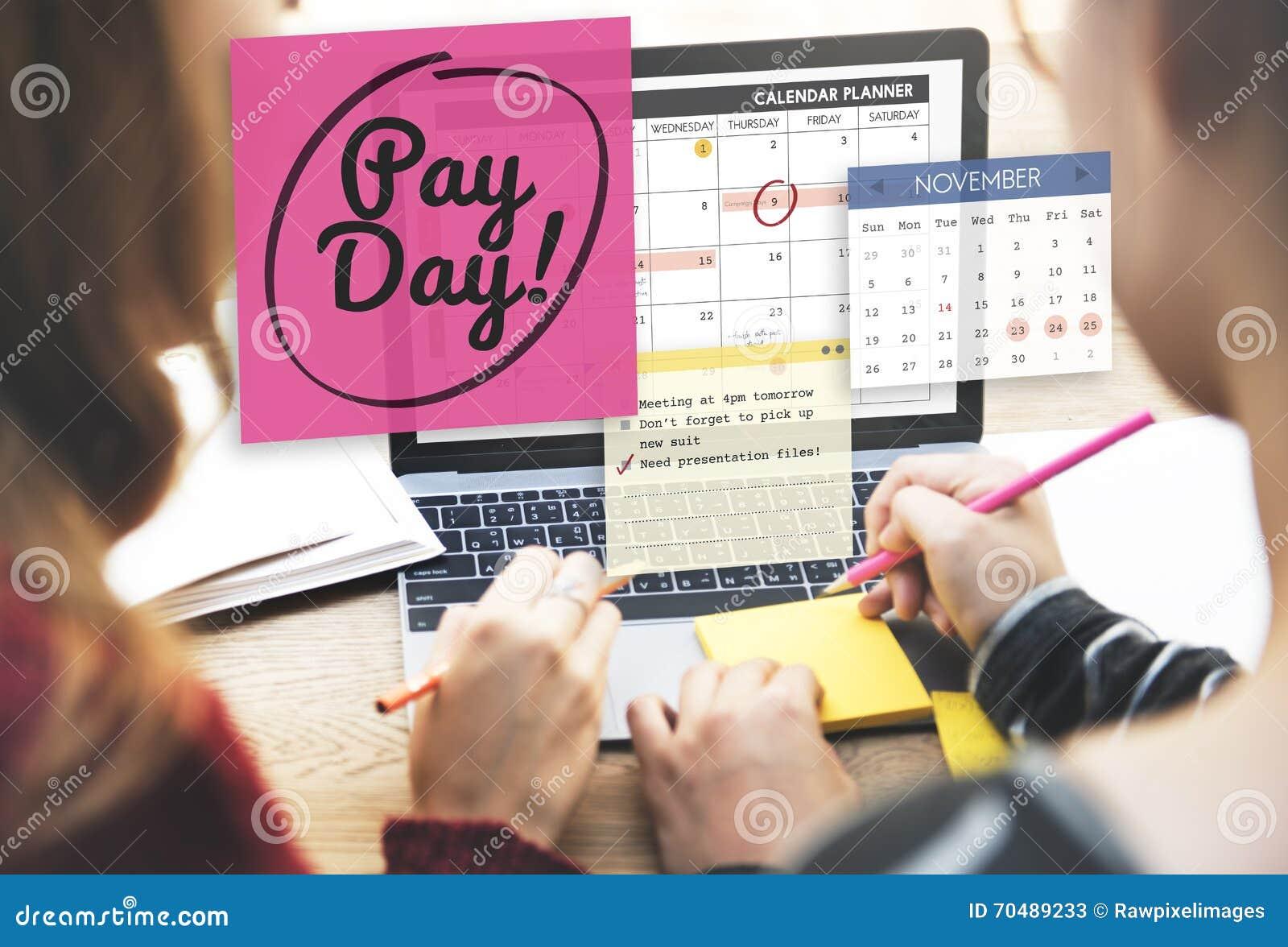 Concept d économie de budget d opérations bancaires de comptabilité de jour de salaire