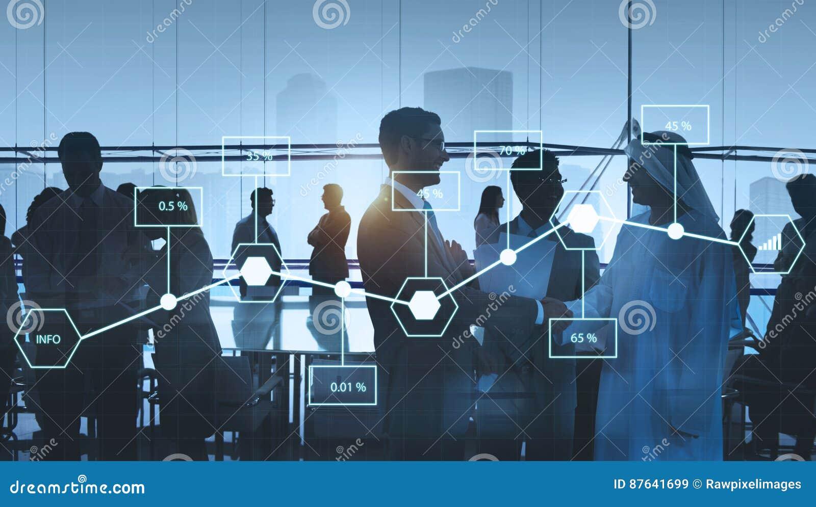 Concept d économie de pourcentage de l information de statistique d analyse