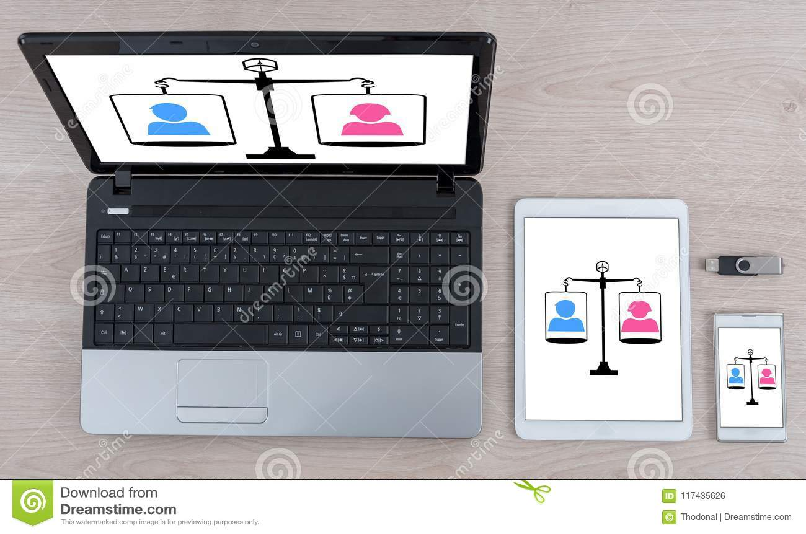Concept d égalité sur différents dispositifs