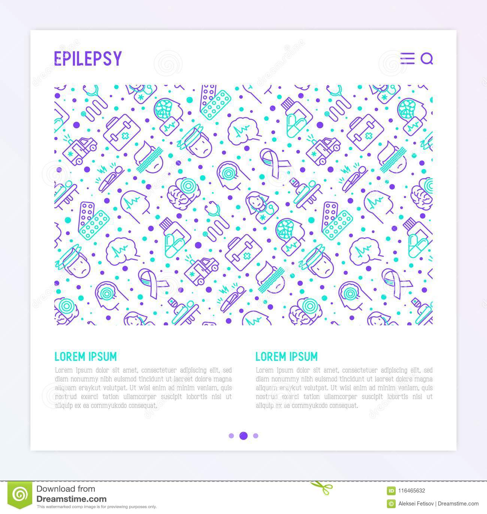 Concept d épilepsie avec la ligne mince icônes