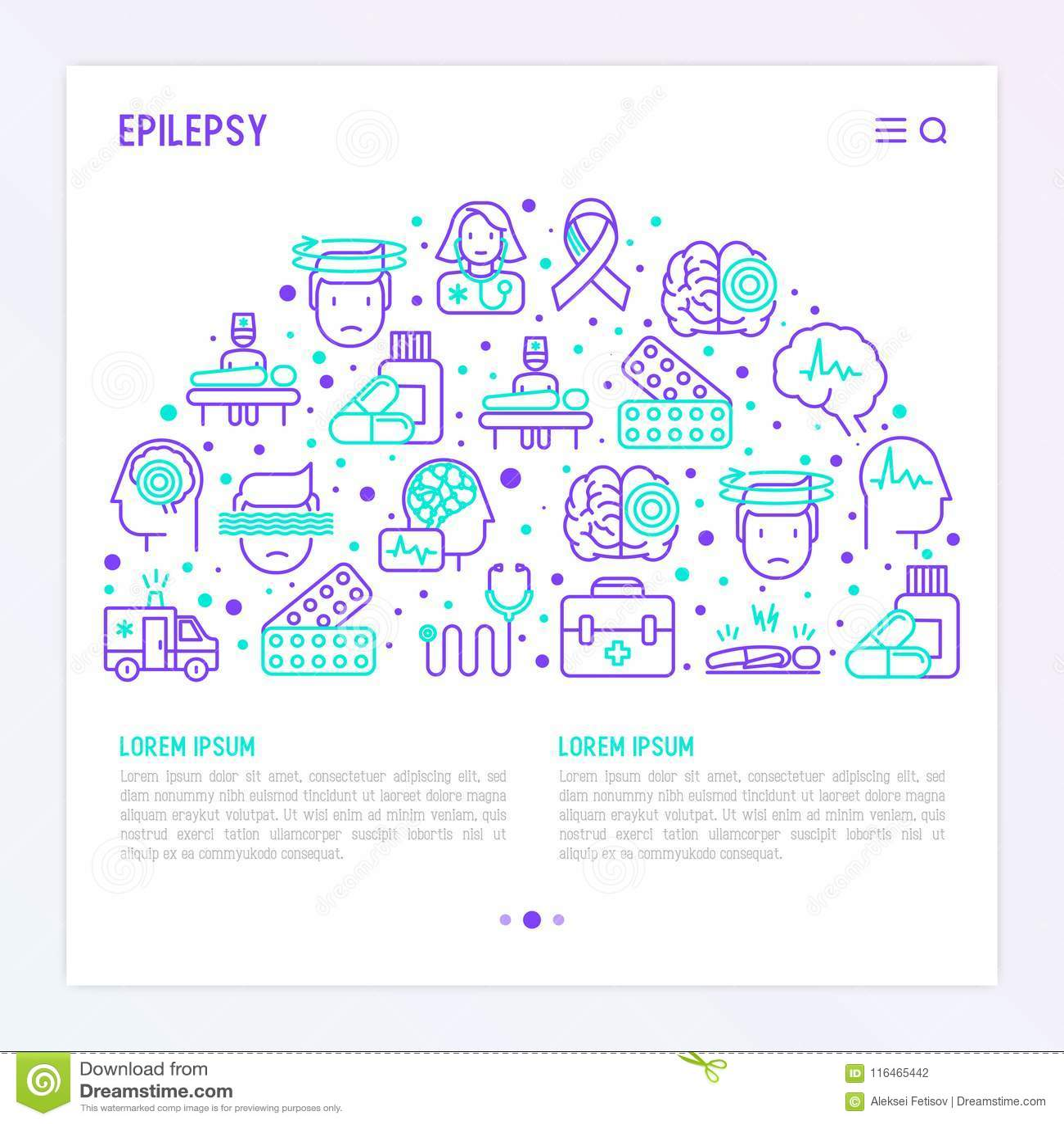 Concept d épilepsie dans le demi-cercle