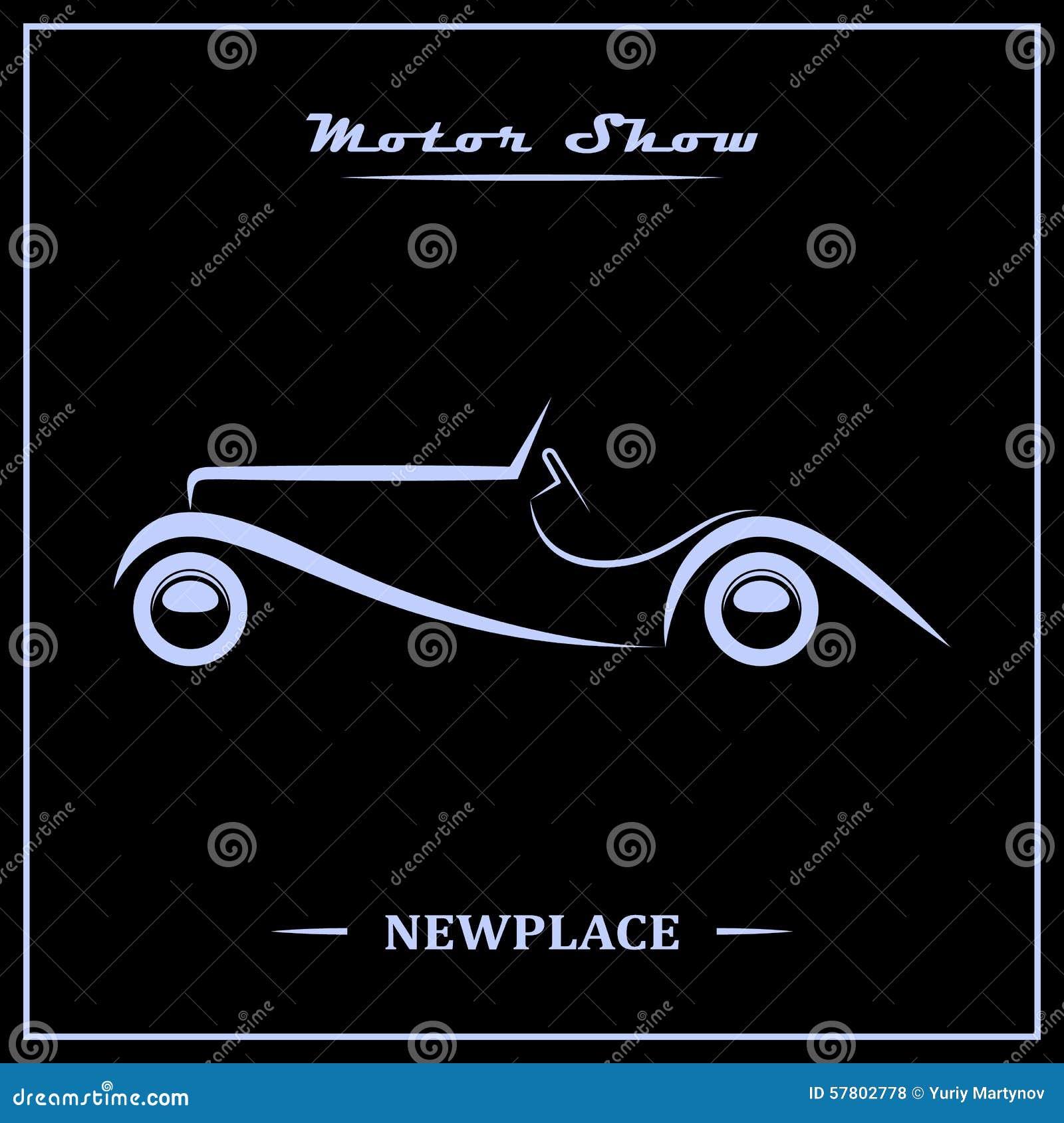 Concept d 39 affiche de salon de l 39 automobile illustration de - Affiche salon de l auto ...