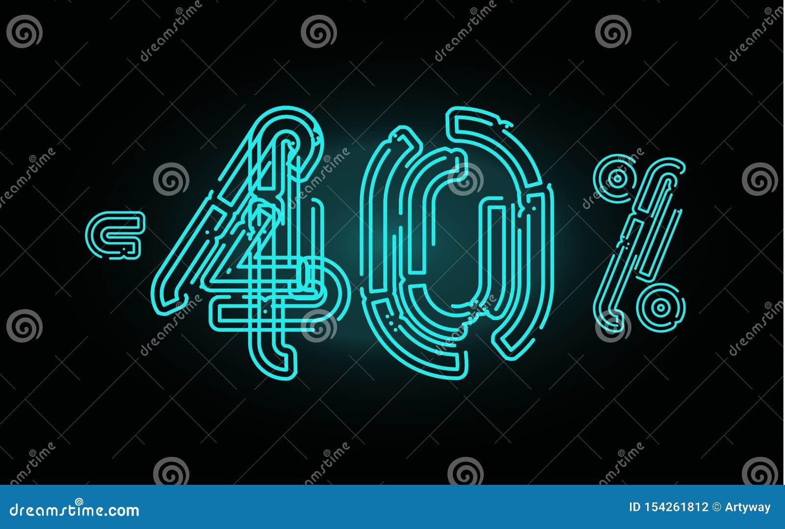 Concept d affiche de 40 ventes Calibre de conception de bannière de remise de quarante pour cent pour la commercialisation, les a