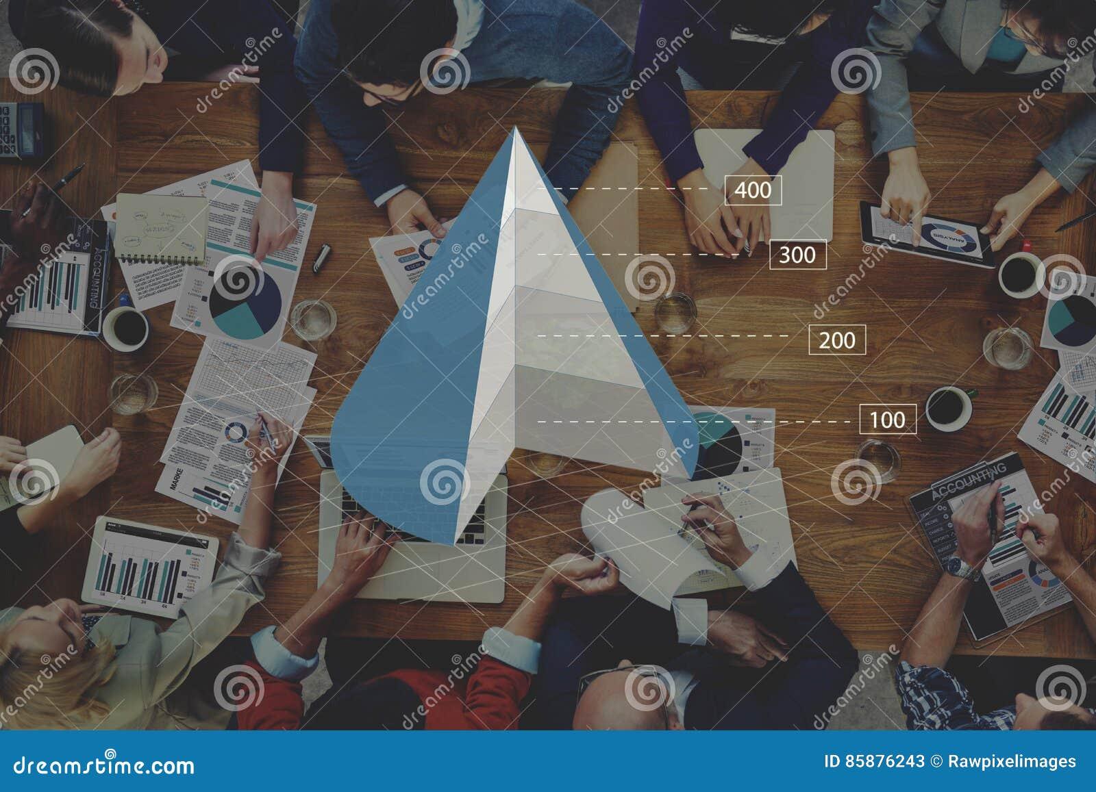Concept d Analytics d affaires de diagramme de graphique de cône