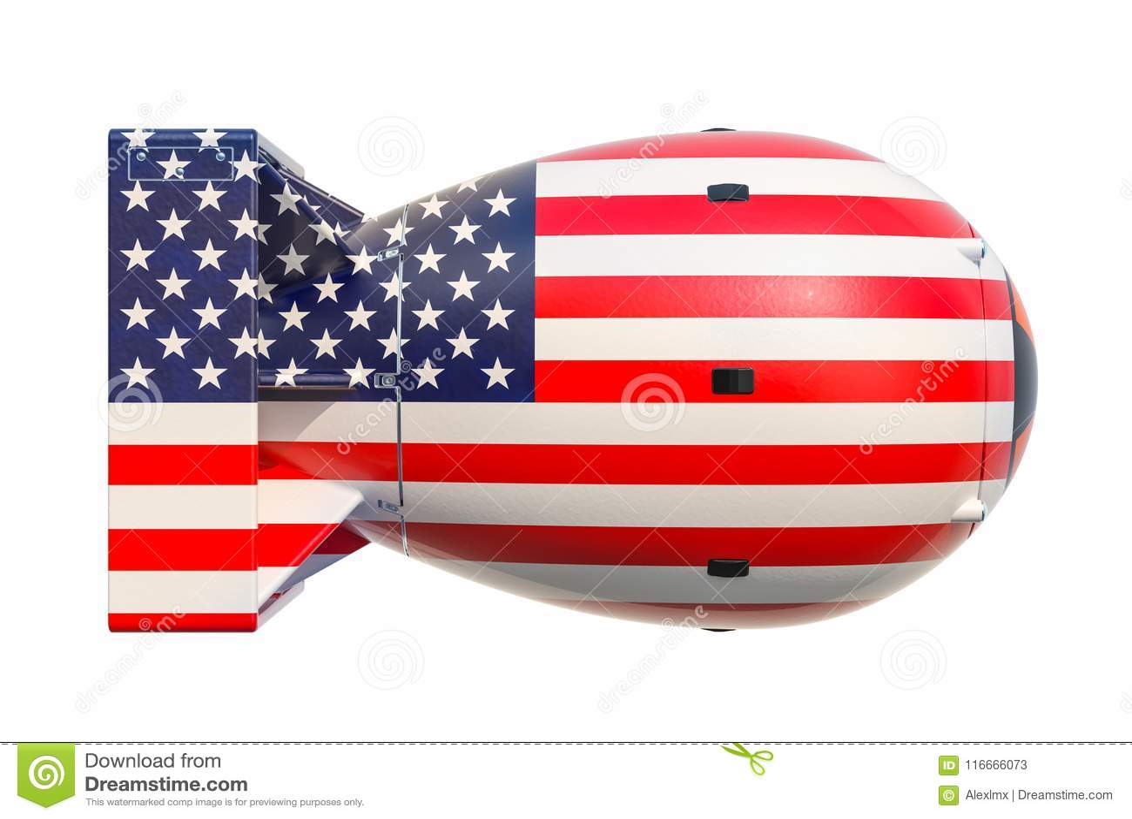 Concept d arme nucléaire des Etats-Unis, rendu 3D