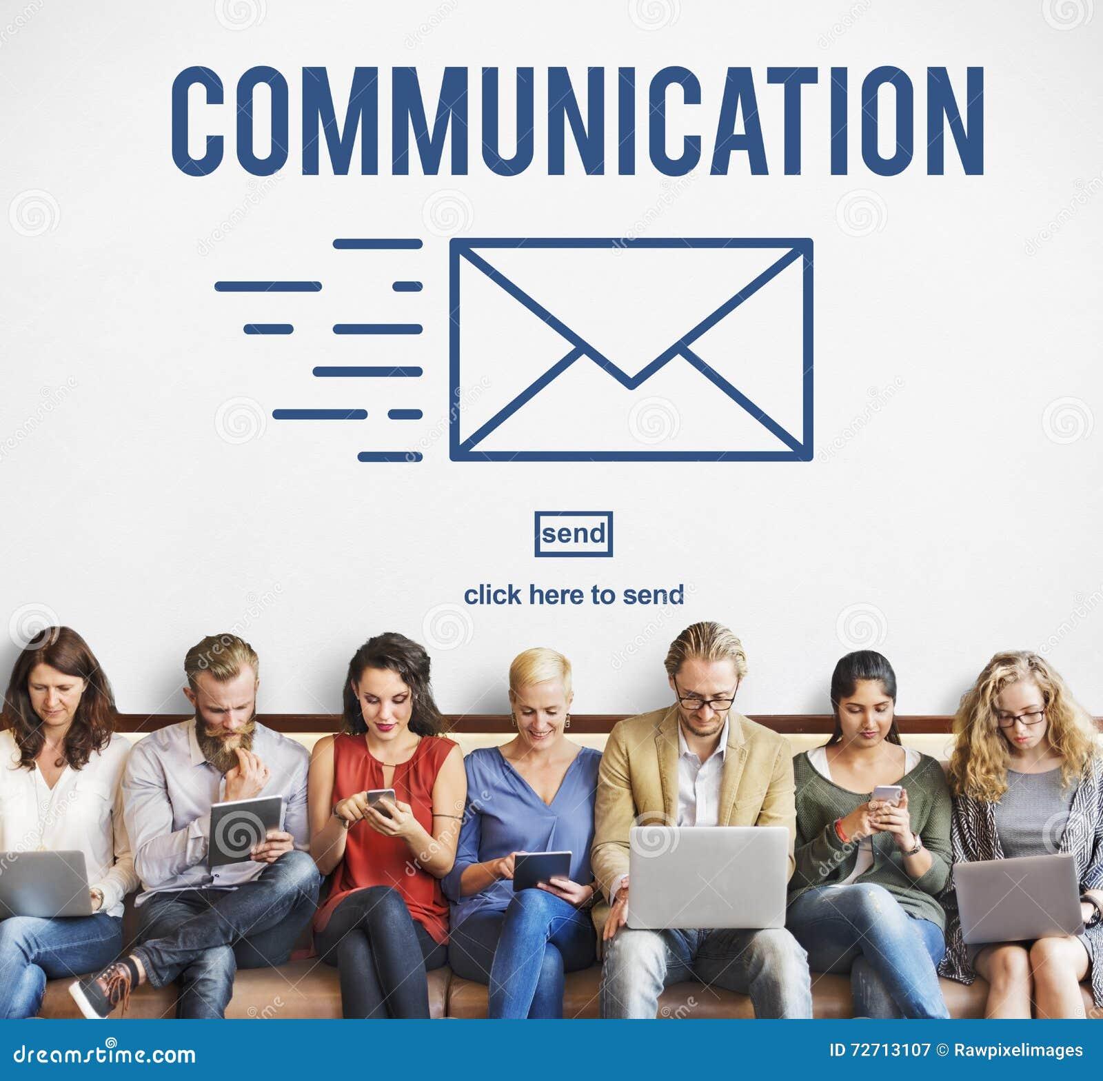Concept d email de correspondance de connexion de communication