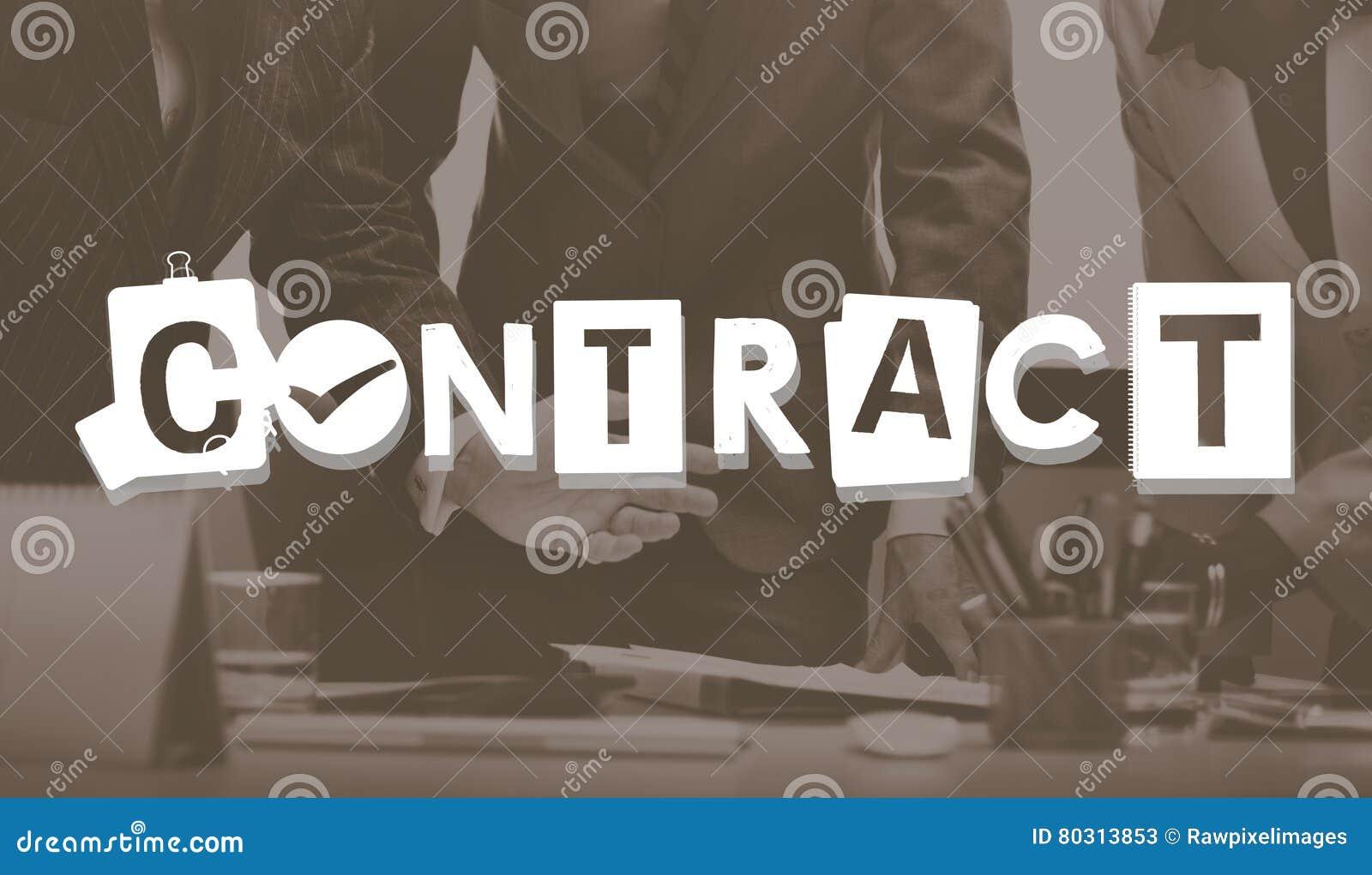 Concept d engagement d engagement d affaire d accord contractuel