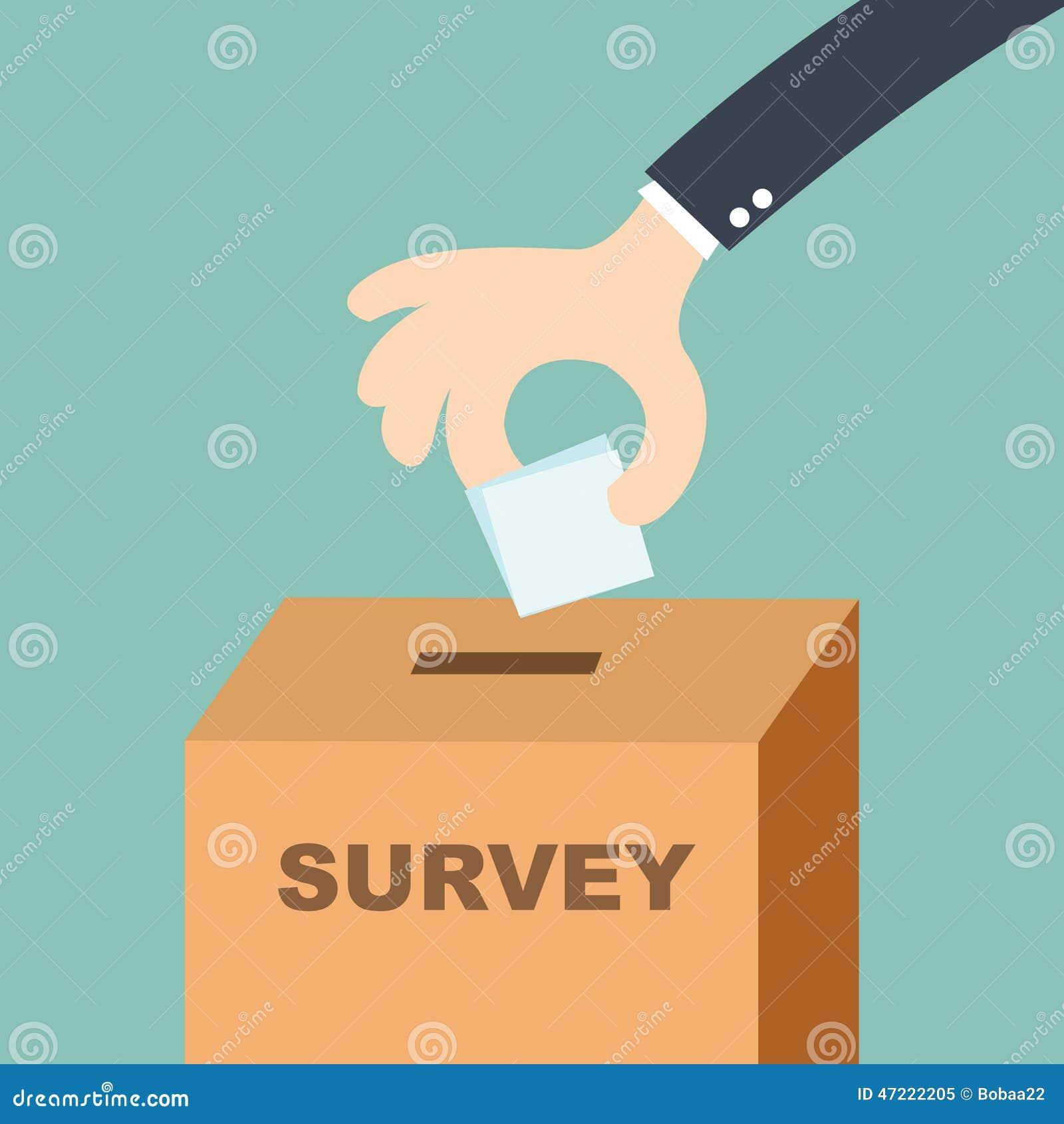 Concept d enquête - remettez mettre le bulletin de vote dans l urne