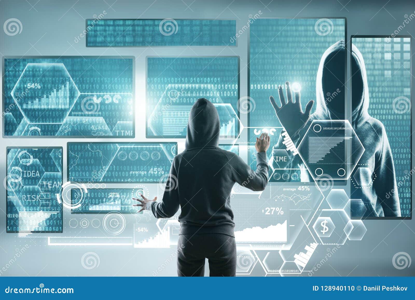 Concept d entaille et de malware