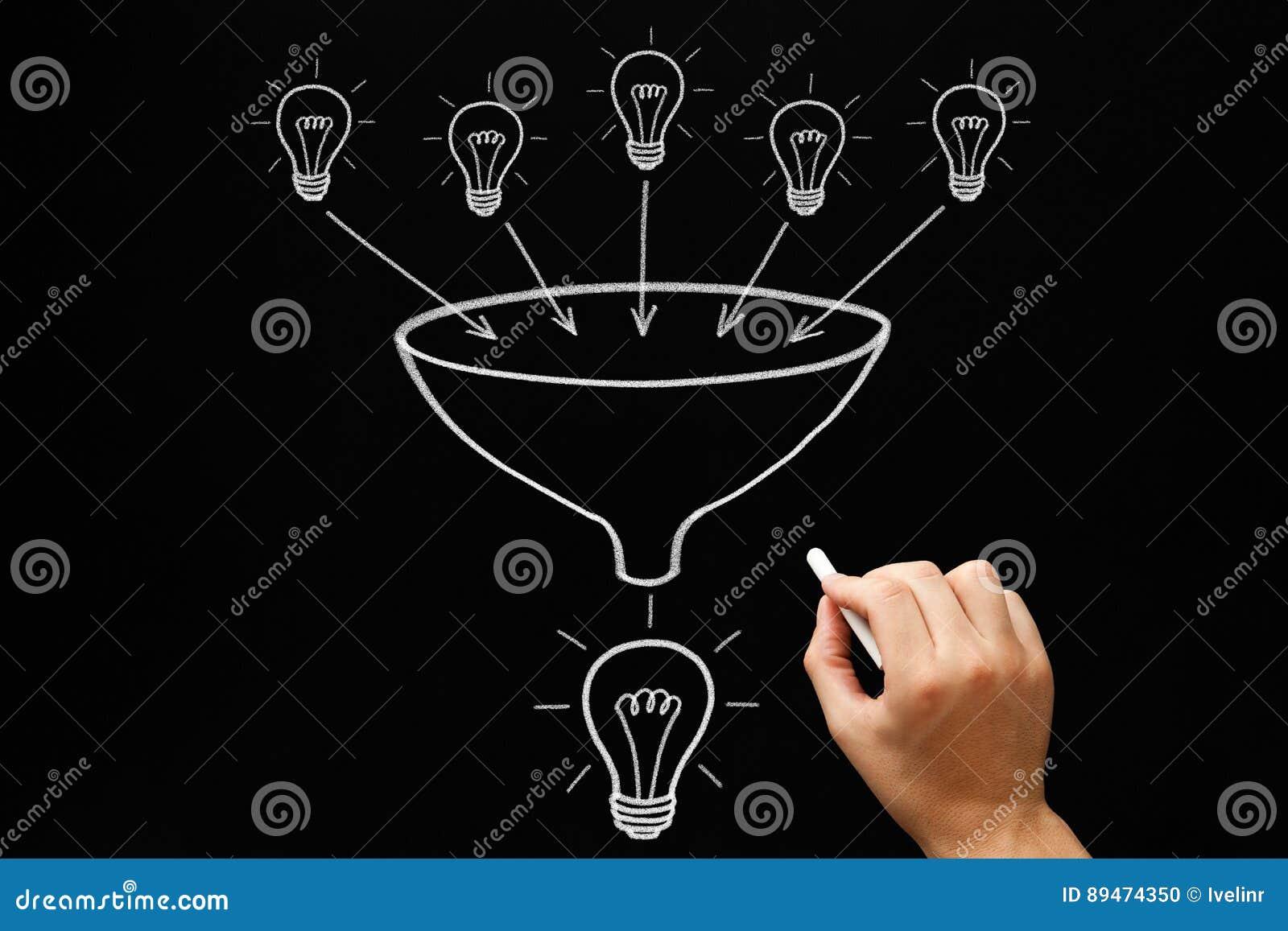 Concept d entonnoir d ampoules de travail d équipe