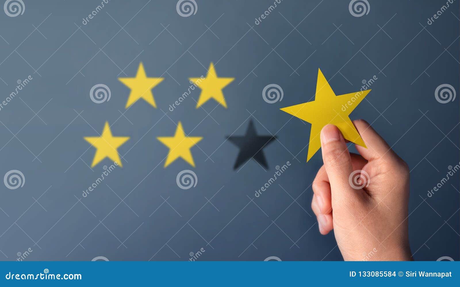 Concept d expérience de client, les meilleurs excellents services pour Satisfa