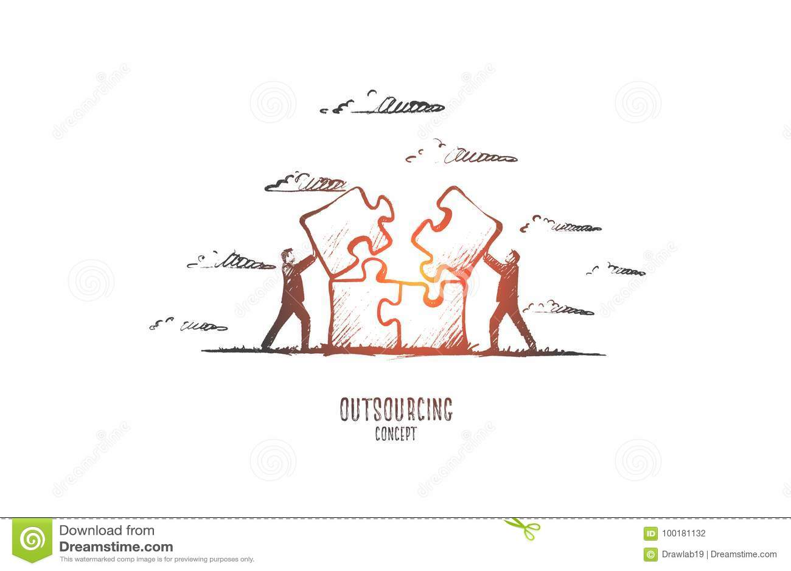 Concept d externalisation Vecteur d isolement tiré par la main