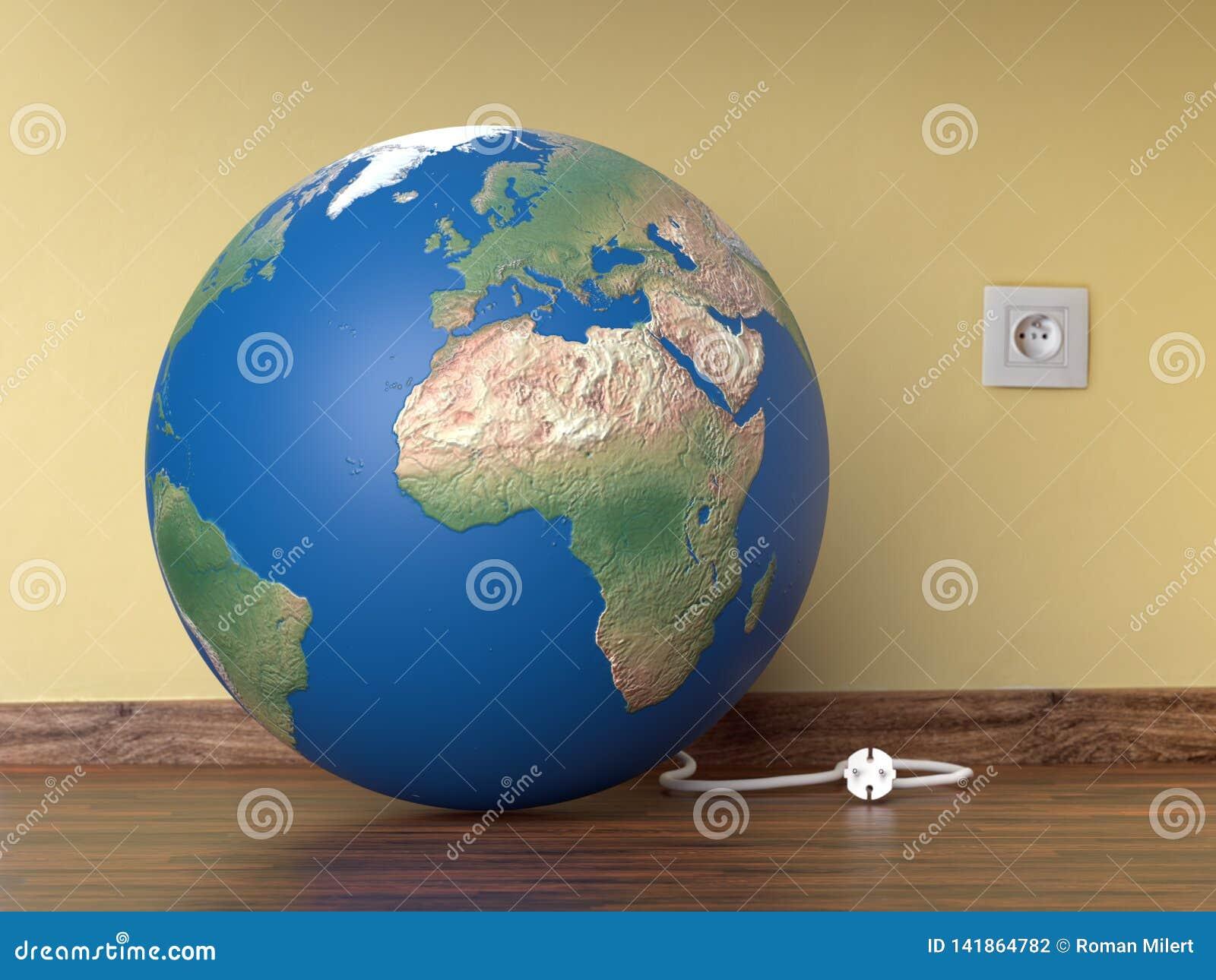 Concept d heure de la terre de planète