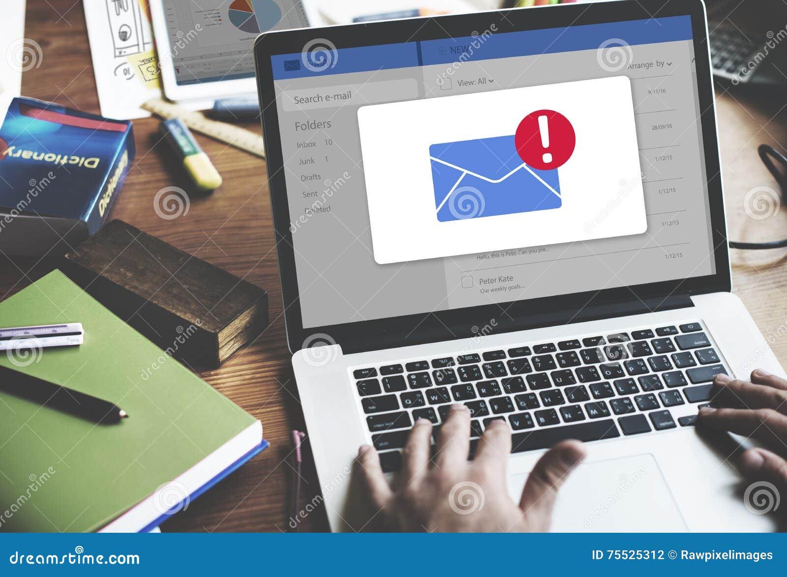 Concept d icône d avis de boîte de réception de message