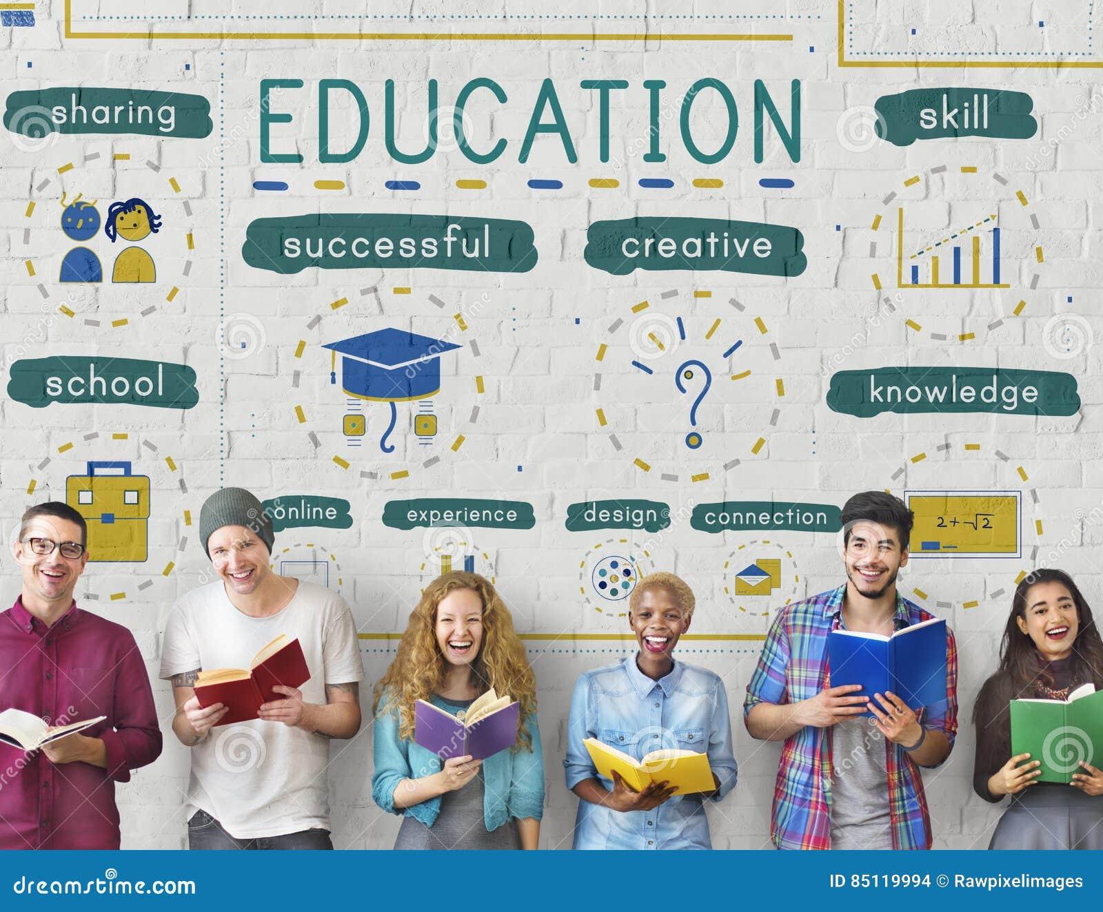 Concept d icônes d étude de la connaissance d éducation